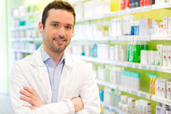 Portrait of an attractive pharmacist at work Royalty Free Stock Image
