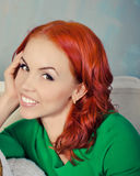 Portrait of attractive red haired girl Royalty Free Stock Image