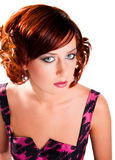 Portrait of attractive red haired girl isolated Royalty Free Stock Photography