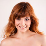 Portrait of attractive red haired young woman Royalty Free Stock Image
