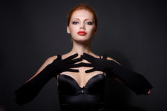 Portrait of attractive redhead model Royalty Free Stock Photo