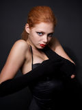 Portrait of attractive redhead model Royalty Free Stock Image