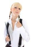 Portrait of attractive schoolgirl Royalty Free Stock Photography