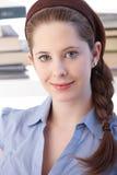 Portrait of attractive schoolgirl smiling Royalty Free Stock Images