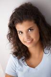 Portrait of attractive schoolgirl smiling Royalty Free Stock Image
