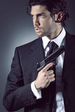 Portrait of an attractive secret agent Royalty Free Stock Photography