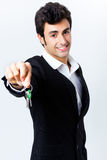 Portrait of attractive seller Royalty Free Stock Photo