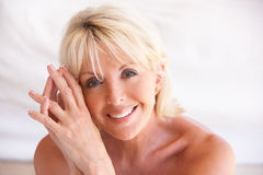 Portrait Of Attractive Senior Woman Stock Images