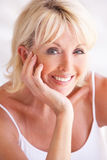 Portrait Of Attractive Senior Woman Royalty Free Stock Images