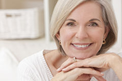 Portrait of Attractive Senior Woman stock photography