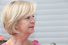 Portrait of an attractive senior woman Stock Image