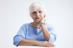 Portrait of attractive senior woman. Stock Image