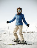 Portrait of attractive skier Royalty Free Stock Photography