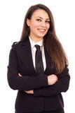 Portrait of attractive smiling businesswoman with arms folded Royalty Free Stock Photography
