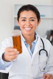 Portrait of an attractive smiling doctor Royalty Free Stock Photography