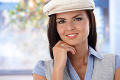 Portrait of attractive smiling girl Royalty Free Stock Photography