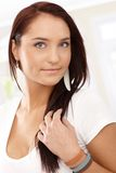 Portrait of attractive smiling girl Stock Photo