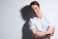 Portrait of attractive smiling man. Royalty Free Stock Images
