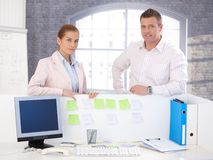 Portrait of attractive smiling office workers Stock Photography