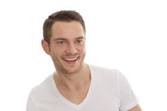 Portrait of attractive smiling student isolated. Royalty Free Stock Photo