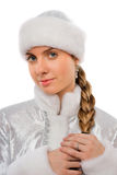 Portrait of a attractive Snow Maiden Stock Image