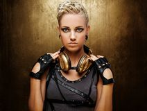 Portrait of an attractive steam punk girl Royalty Free Stock Images