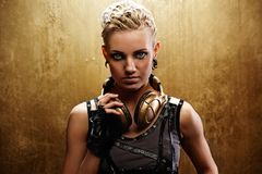 Portrait of an attractive steam punk girl Royalty Free Stock Photos