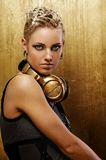 Portrait of an attractive steam punk girl. Stock Photo