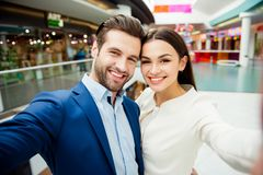 A portrait of attractive stylish couple in love embracing each o royalty free stock image