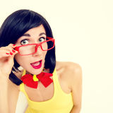 Portrait of attractive surprised girl Royalty Free Stock Image