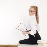 Portrait of an attractive teacher. Back to school concept: portrait of an attractive teacher Royalty Free Stock Photo