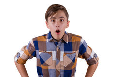 Portrait of attractive teen boy  Royalty Free Stock Images