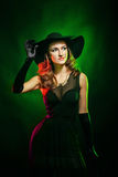 Portrait of attractive witch for Halloween Royalty Free Stock Images