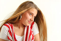 Portrait of attractive woman Stock Images