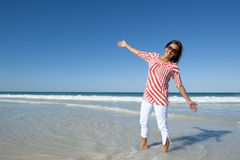 Portrait Attractive Woman at Beach Royalty Free Stock Photos