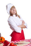 Portrait attractive woman cook Royalty Free Stock Photography