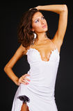 Portrait of attractive woman in dress Royalty Free Stock Photography