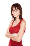 Portrait of attractive woman with glasses Royalty Free Stock Image