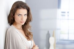 Portrait of attractive woman a home Royalty Free Stock Photography