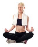 Portrait of a attractive woman meditating Royalty Free Stock Photography