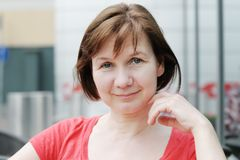 Portrait of attractive woman Stock Photos