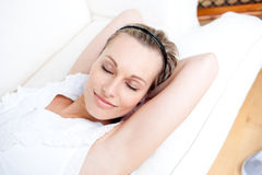 Portrait of an attractive woman relaxing Royalty Free Stock Images