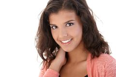 Portrait of attractive woman smiling Stock Photos