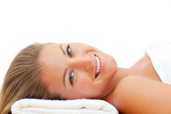 Portrait of attractive woman after a spa treatment Stock Photography