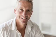 Portrait of attractive 40-year-old man Royalty Free Stock Photos