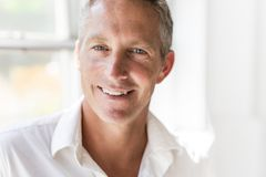 Portrait of attractive 40-year-old man Stock Image