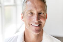 Portrait of attractive 40-year-old man Royalty Free Stock Image