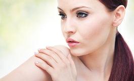 Portrait of attractive young adult woman Royalty Free Stock Photo