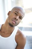 Portrait of an attractive young black man Stock Image