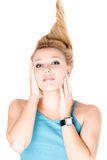 Portrait of attractive young blond girl Royalty Free Stock Photo
